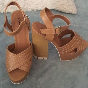 Wet Seal heels/wedges, worn once to an interview.
